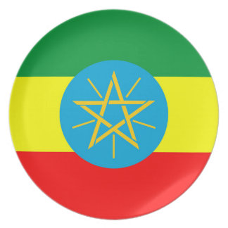 ethiopia country flag long symbol plate