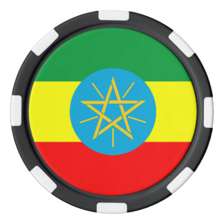 ethiopia country flag long symbol poker chips