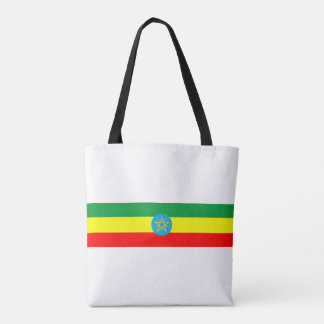 ethiopia country flag long symbol tote bag
