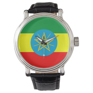 ethiopia country flag long symbol watch