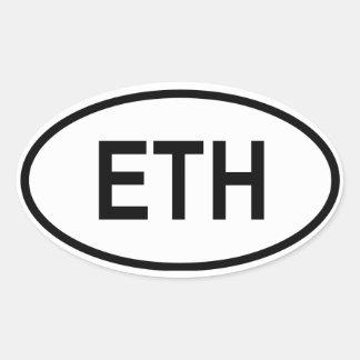 "Ethiopia ""ETH"" Oval Sticker"
