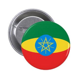 Ethiopia Fisheye Flag Button