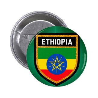 Ethiopia Flag 2 Inch Round Button