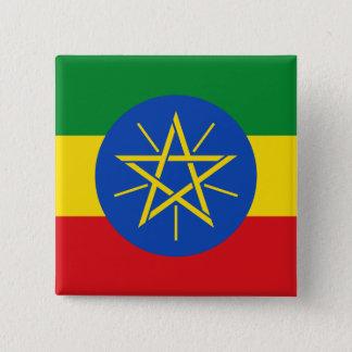 Ethiopia Flag 2 Inch Square Button