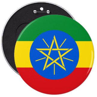 Ethiopia Flag 6 Inch Round Button
