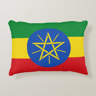 Ethiopia Flag Accent Pillow
