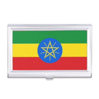 Ethiopia Flag Business Card Holder