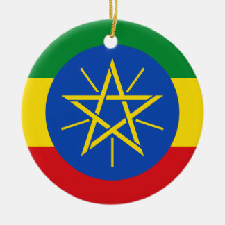 Ethiopia Flag Ceramic Ornament