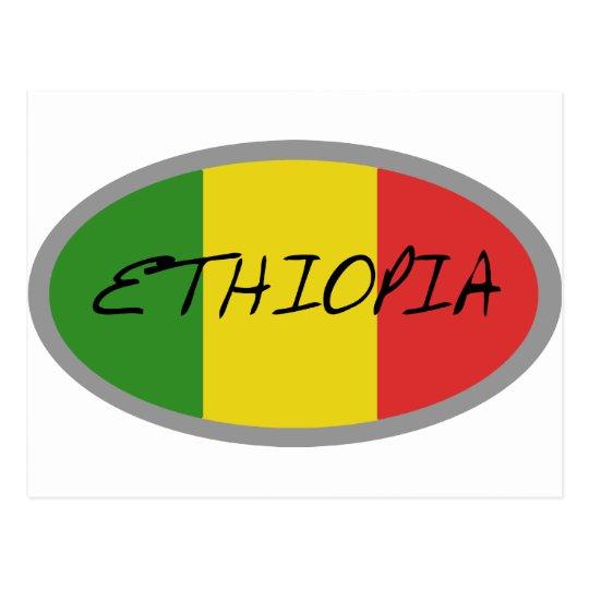 Ethiopia flag design! postcard