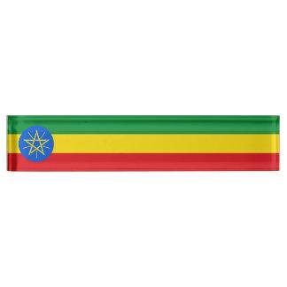 Ethiopia Flag Desk Name Plates