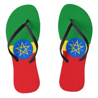 Ethiopia Flag Flip Flops