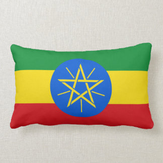Ethiopia Flag Lumbar Pillow