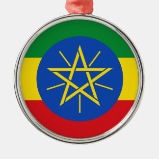 Ethiopia Flag Metal Ornament