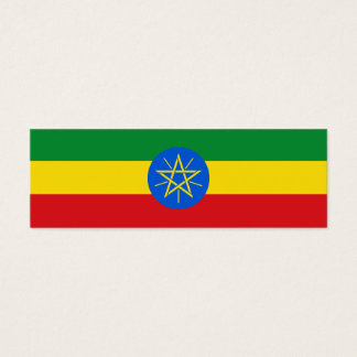 Ethiopia Flag Mini Business Card