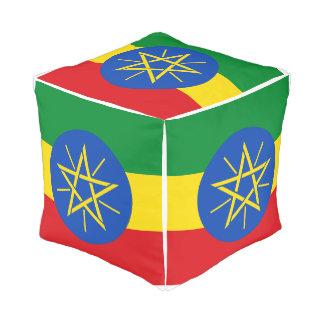 Ethiopia Flag Pouf