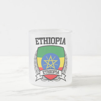 Ethiopia Frosted Glass Coffee Mug