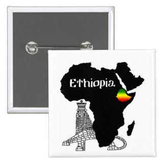 ETHIOPIA / LION of JUDAH 2 Inch Square Button