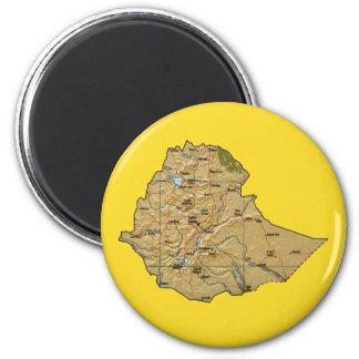 Ethiopia Map Magnet