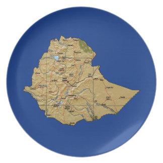 Ethiopia Map Plate