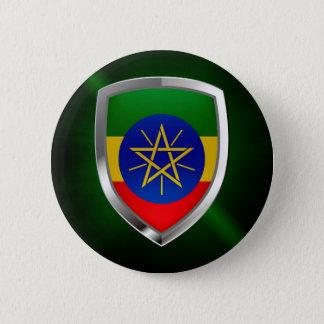 Ethiopia Mettalic Emblem 2 Inch Round Button