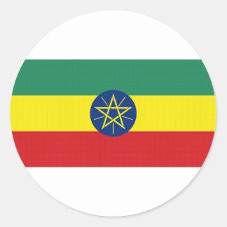 Ethiopia National Flag Round Stickers