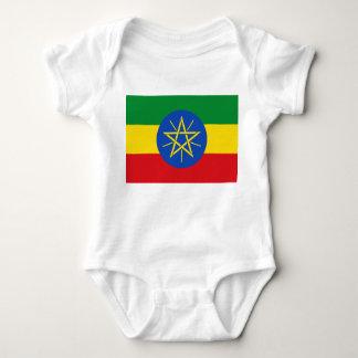 Ethiopia National World Flag Baby Bodysuit