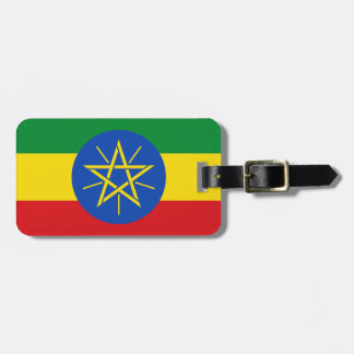 Ethiopia National World Flag Luggage Tag