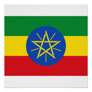 Ethiopia National World Flag Perfect Poster
