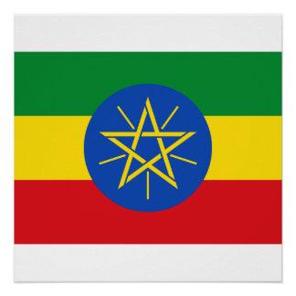 Ethiopia National World Flag Poster