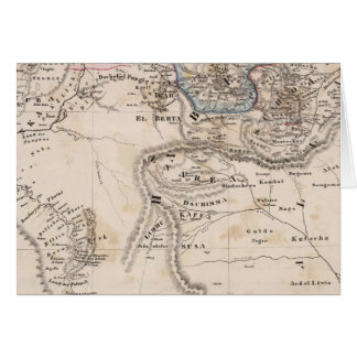 Ethiopia, Somalia, Africa Card