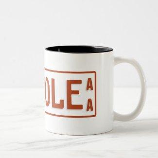 Ethiopia taxi licence plate Two-Tone coffee mug