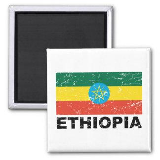 Ethiopia Vintage Flag Magnet