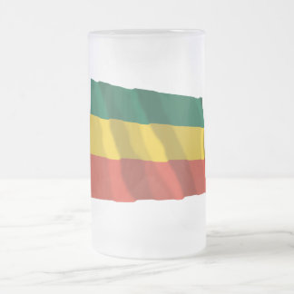 Ethiopia Waving Civil Flag Frosted Glass Beer Mug