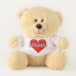 Ethiopian Afgreki I Love You Red Heart Teddy Bear