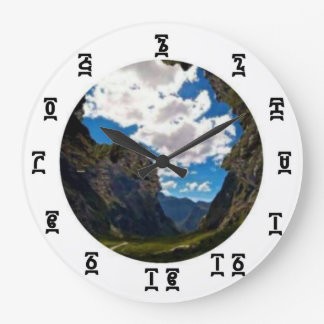 Ethiopian Africa Time - Round (Large) Wall Clock
