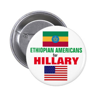 Ethiopian Americans for Hillary 2016 2 Inch Round Button