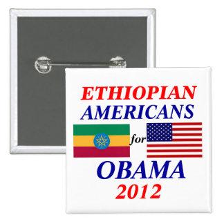 Ethiopian americans for Obama 2 Inch Square Button