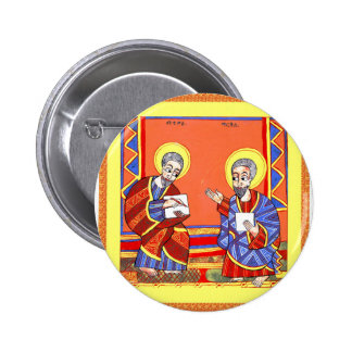 Ethiopian-Bible-Saint-Luke-Saint-John 2 Inch Round Button