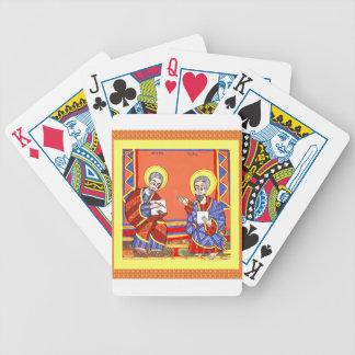Ethiopian-Bible-Saint-Luke-Saint-John Bicycle Playing Cards