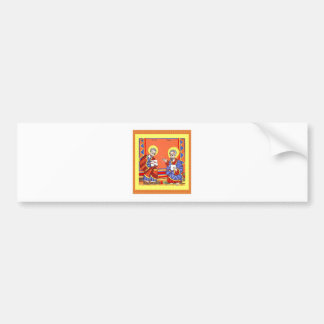 Ethiopian-Bible-Saint-Luke-Saint-John Bumper Sticker