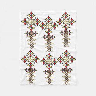 Ethiopian Cross Fleece Blanket