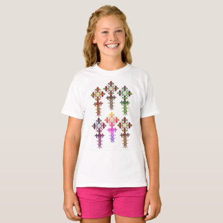 Ethiopian Cross T-Shirt - Girls