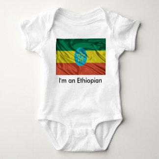Ethiopian flag baby shirt