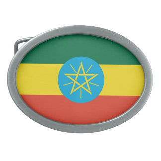 Ethiopian Flag Belt Buckle
