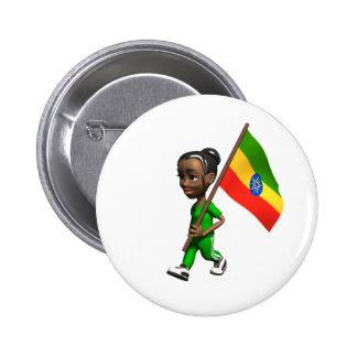Ethiopian Girl 2 Inch Round Button