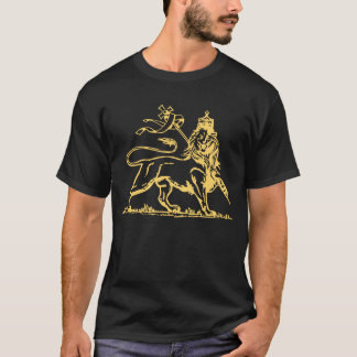 Ethiopian Lion of Judah/Cross on back T-Shirt