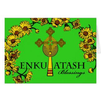 Ethiopian New Year, Enkutatash, Cross and Flowers Card