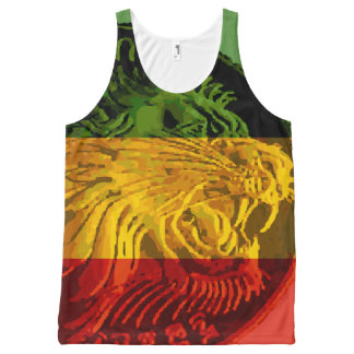 Ethiopian Rasta Lion Tank Top Unisex
