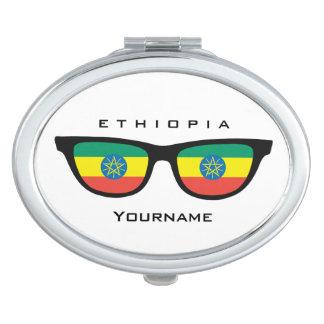 Ethiopian Shades custom pocket mirror Travel Mirror
