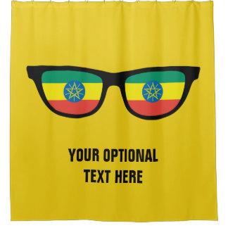 Ethiopian Shades custom shower curtain